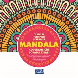 Mandala - Çocuklar İçin Boyama Pembe Kitap